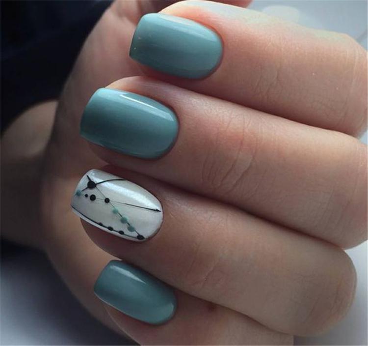 image26-15   Весенние идеи маникюра на квадратные ногти
