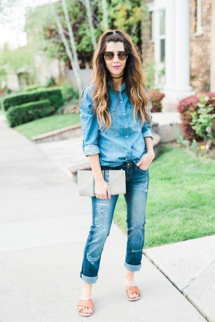 image27-8 | Как носить джинсы этой весной — 39 образов с фото