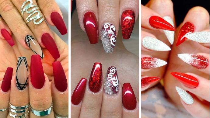 Лучшие идеи красного маникюра на ногти любой длины