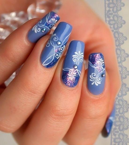image10-7 | 37 идей синего маникюра на ногти разной формы и длины — найди лучшее решение