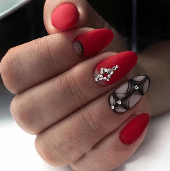 image20-4 | 38 идей матового маникюра на миндалевидные ногти