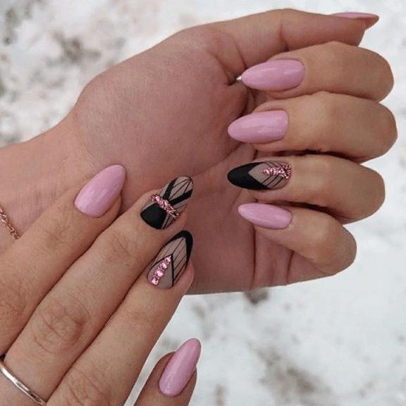 image26-4 | 38 идей матового маникюра на миндалевидные ногти