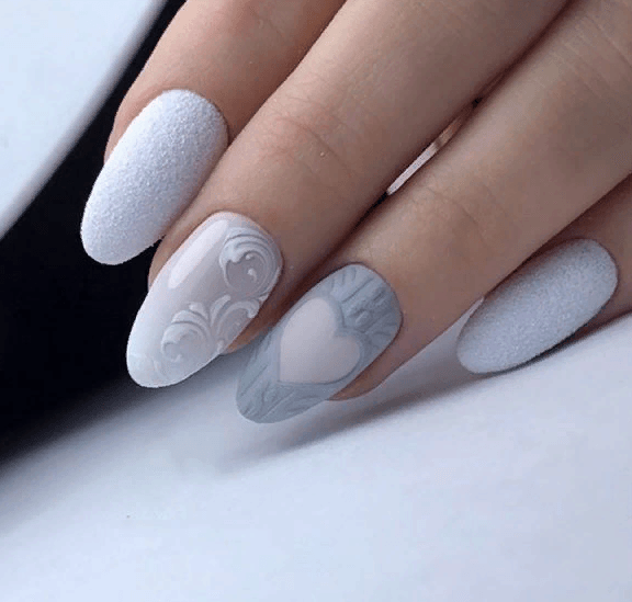 image31-4 | 38 идей матового маникюра на миндалевидные ногти