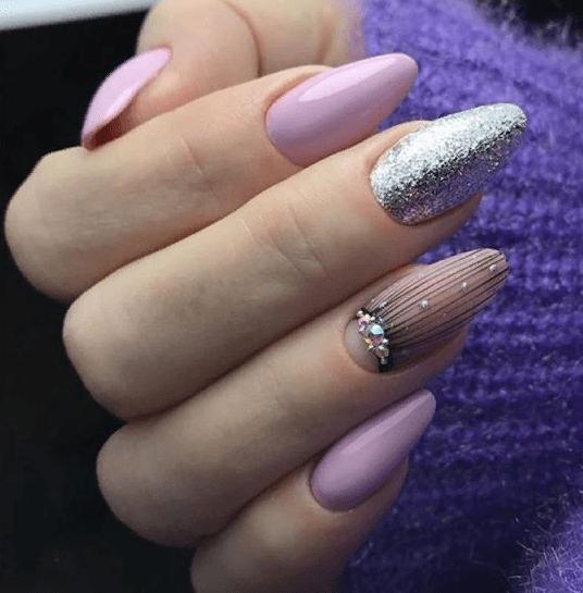 image32-4 | 38 идей матового маникюра на миндалевидные ногти