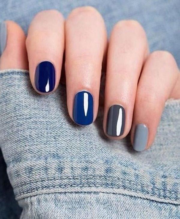 image33-5 | 37 идей синего маникюра на ногти разной формы и длины — найди лучшее решение