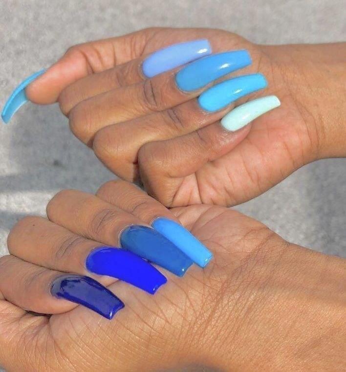 image36-3 | 37 идей синего маникюра на ногти разной формы и длины — найди лучшее решение