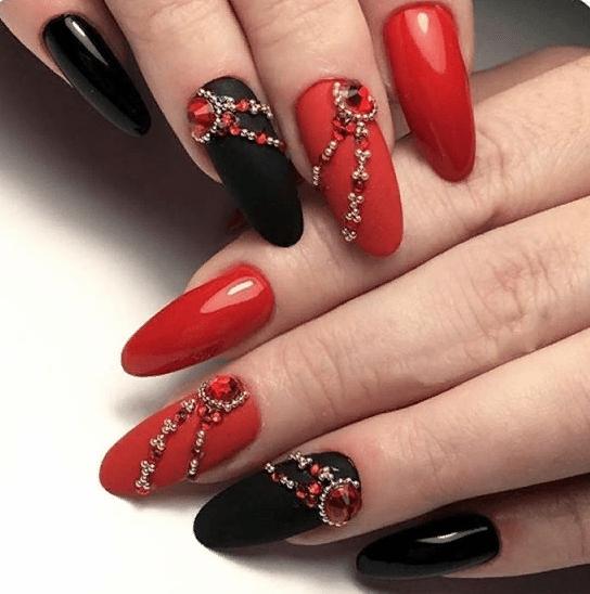 image5-4 | 38 идей матового маникюра на миндалевидные ногти