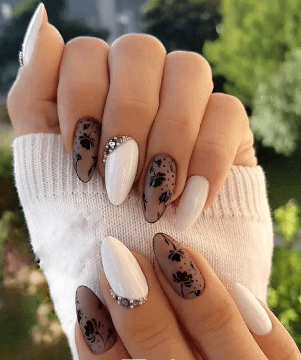 image8-4 | 38 идей матового маникюра на миндалевидные ногти