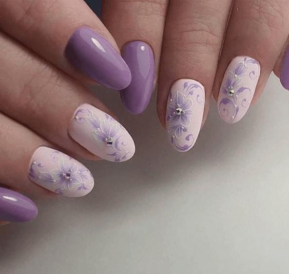 image9-4 | 38 идей матового маникюра на миндалевидные ногти