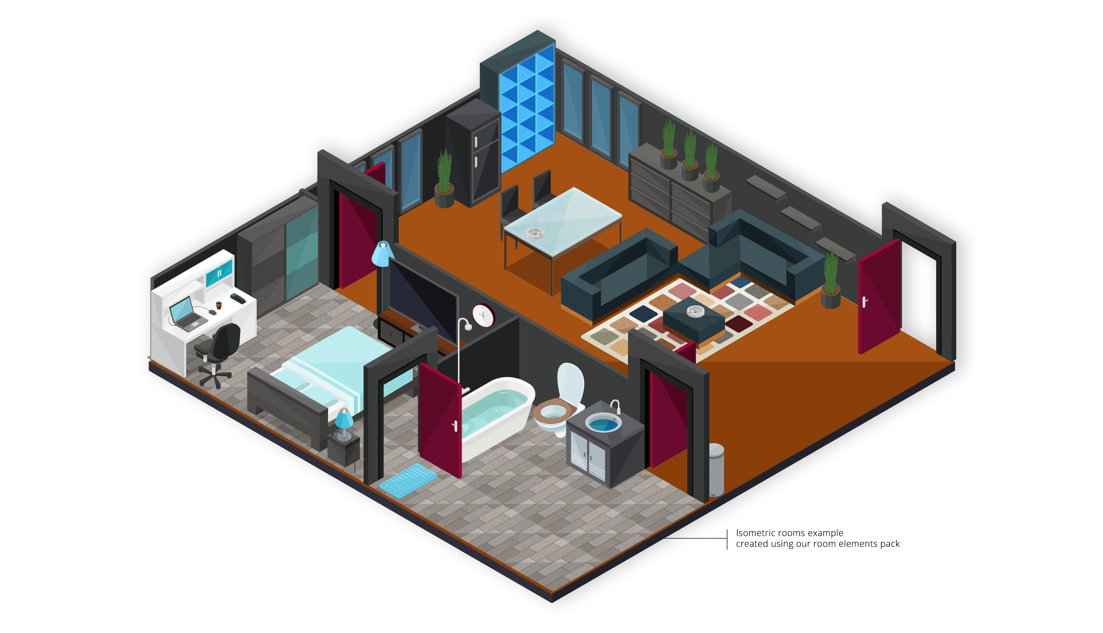 isometric room builder