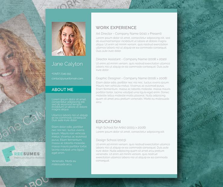 Classy Emerald – A Fancy Word CV Template Freebie