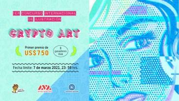 """Se presenta la convocatoria del """"1er Concurso de Ilustración Digital 'Crypto Art'"""""""
