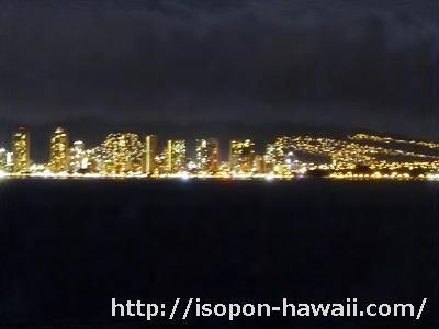 スターオブホノルル号からの夜景画像