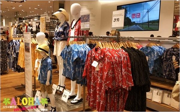 ユニクロ・アラモアナ店の店内画像