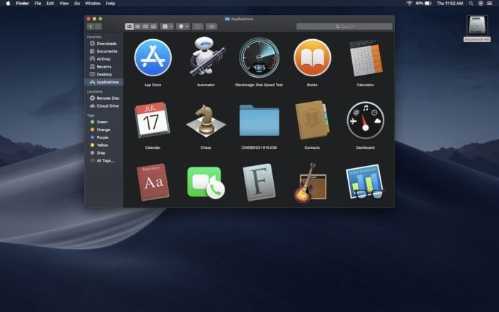 Mac os mojave dark mode