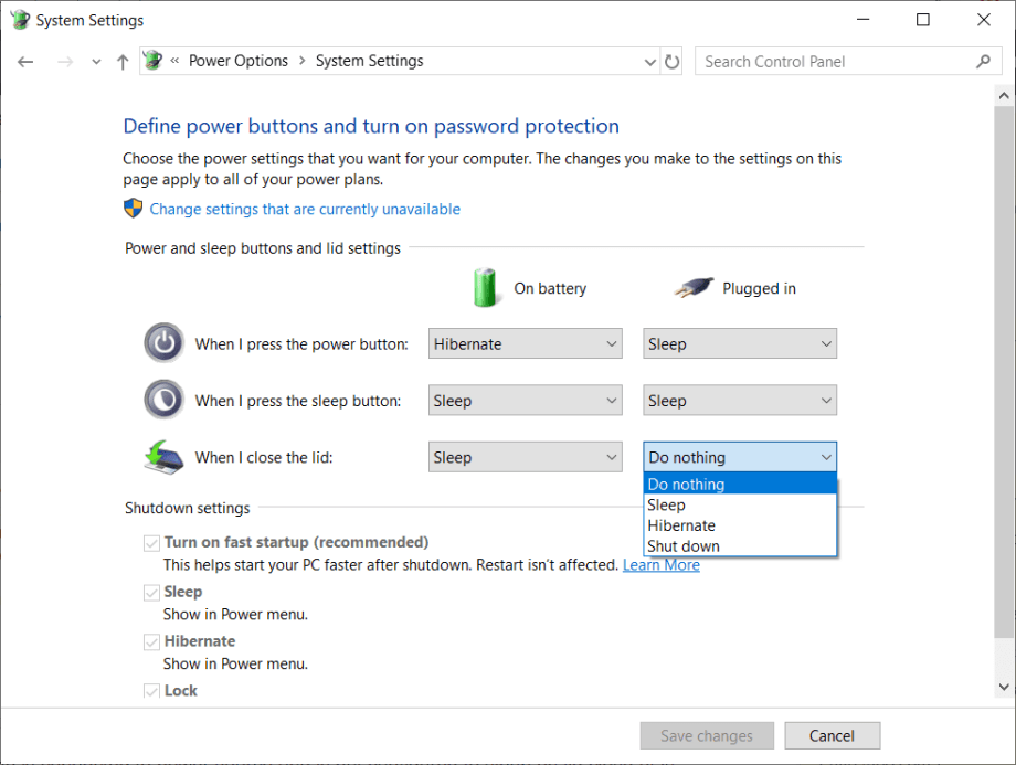 How to Keep Windows 10 Laptop Running with Closed Lid