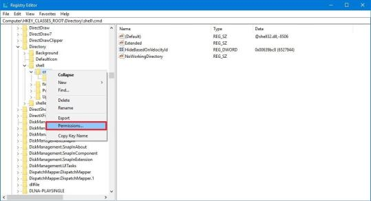 How to return the 'Open command window here' option to Windows 10's context menu
