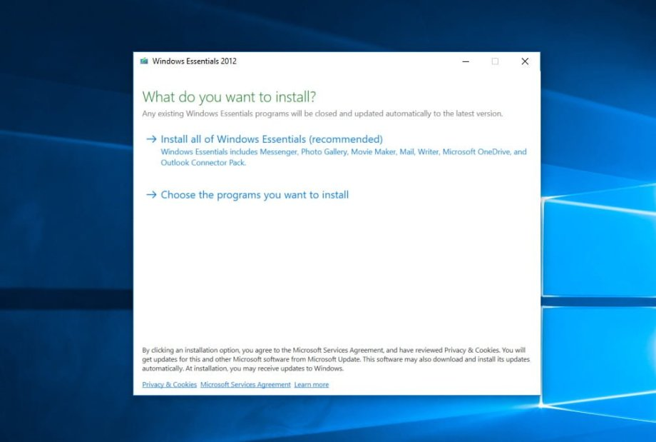 where to download Windows Essentials 2012