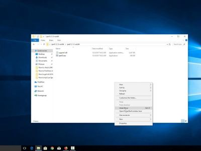 Four ways to open Command Window in a folder in Windows 10.