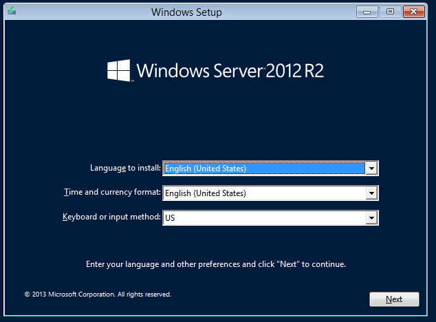 Where can I download an ISO file for Server 2012 R2