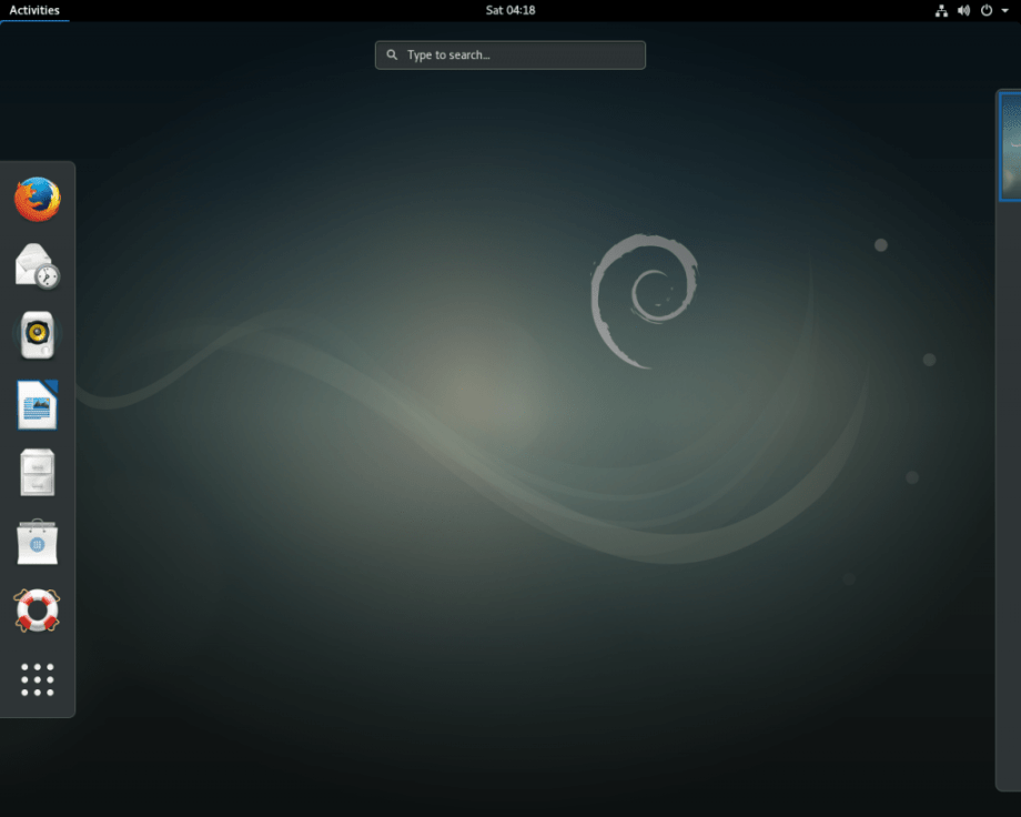 Debian 9 Screenshot