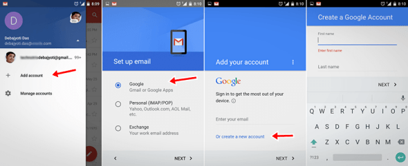 How add Google/Gmail Account From Your Android Phone