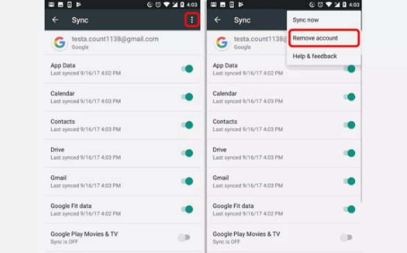 How to remove Google/Gmail Account From Your Android Phone