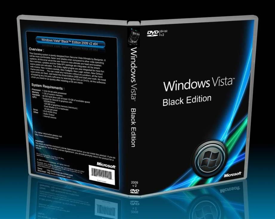 Download Windows Vista Black Edition ISO 32 / 64 Bit for free 1