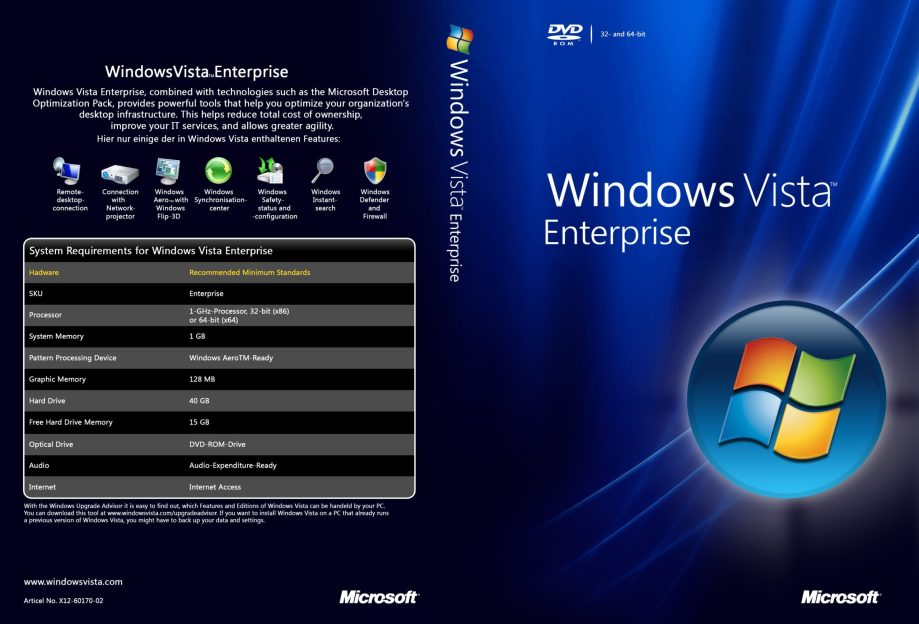 If are you looking for download Windows Vista Enterprise ISO for free