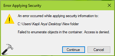 """Solved: """"Failed to Enumerate Objects in the Container"""" Windows 10 Error"""