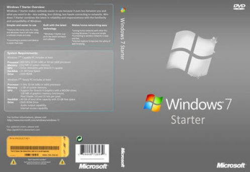Where can you download Windows 7 Starter ISO for free
