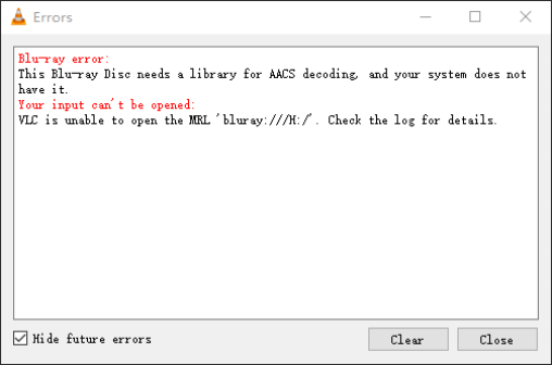 How to Fix BluRay Disk need Library for AACS Decoding