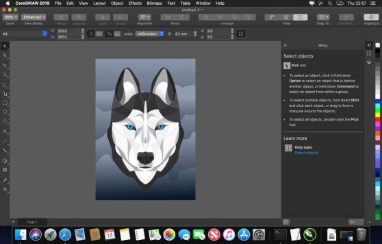 You can download CorelDraw 2020 for Mac OS for free