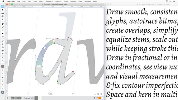 You can download Fontlab 7 for Mac