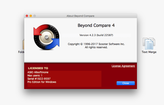 You can download Beyond Compare 4 for Mac