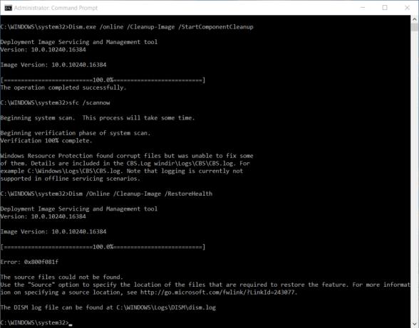 Fix Windows Update errors via DISM or System Update