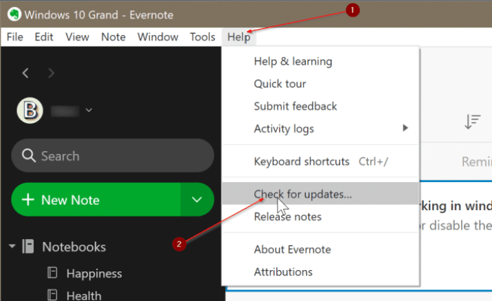 How to fix Evernote App Not Opening or Not Working In Windows 10
