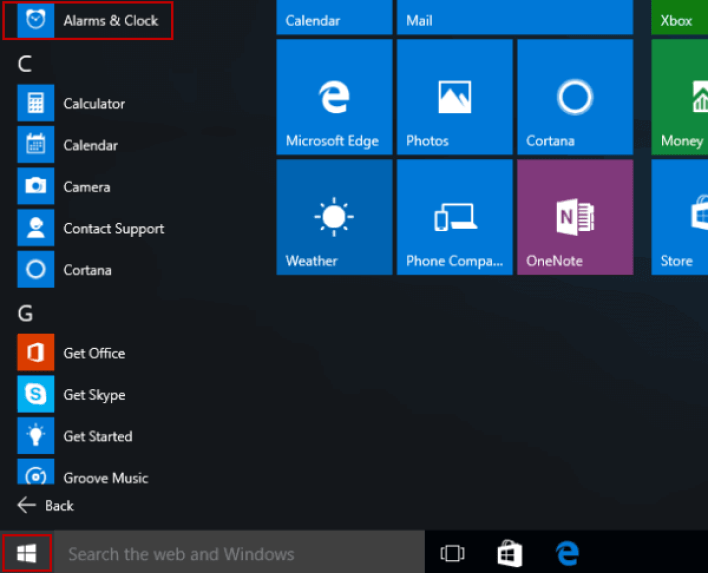 How to use alarms and timers in the Alarms & Clock in Windows 10