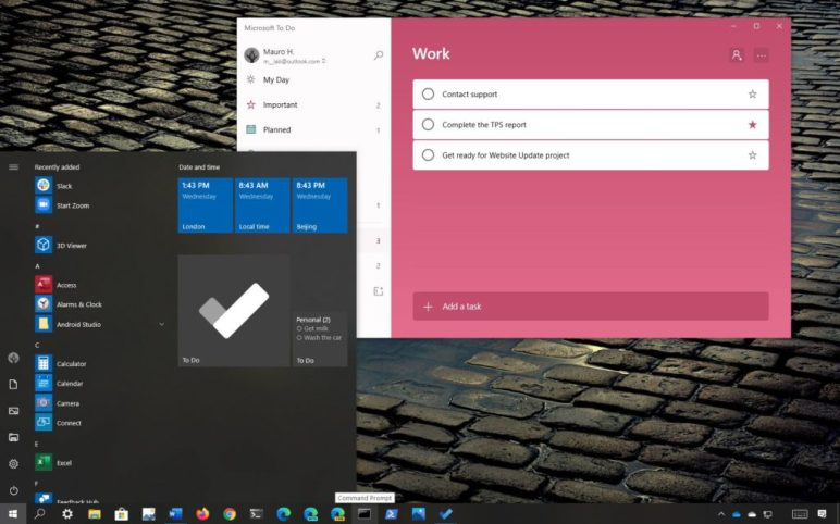 How to pin Microsoft To-Do lists to Start Menu in Windows 10