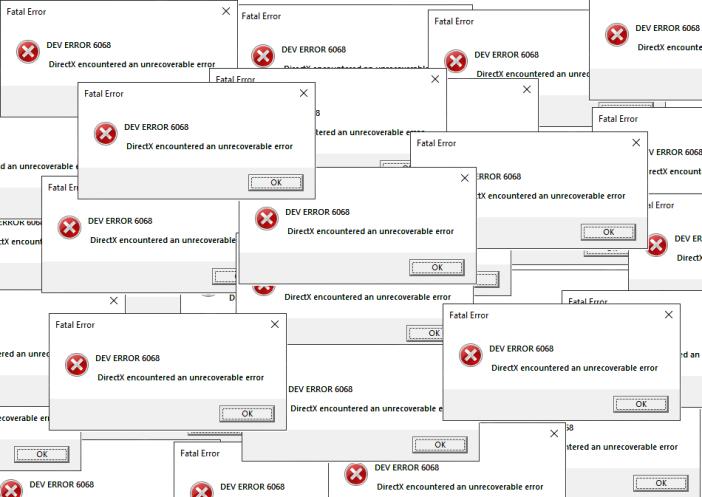 How to fix Dev Error 6068 [Overclock, DirectX, Warzone]