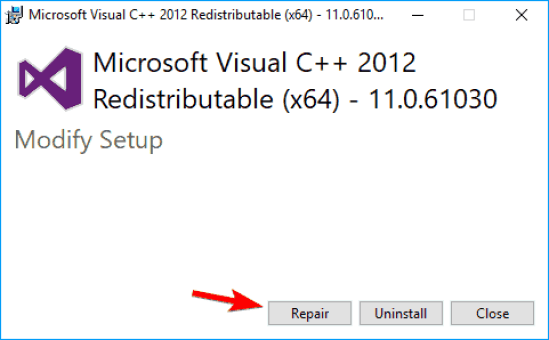 How to fix Microsoft Visual C++ Runtime Library Error in Windows 10 4