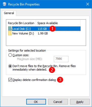 How to Delete Files Directly Without going to Recycle Bin in Windows 10 2