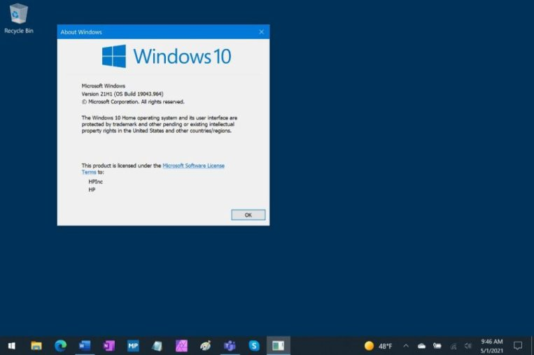 How to Install the Windows 10 v21H1 Update - Step by Step Guide 1