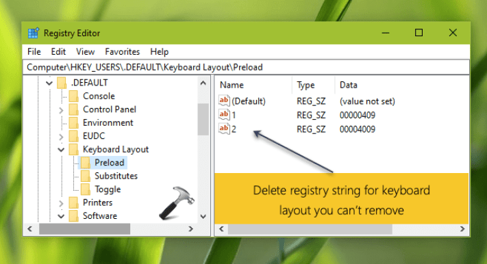 Fixed: Cannot Remove Keyboard Language on Windows 10 2