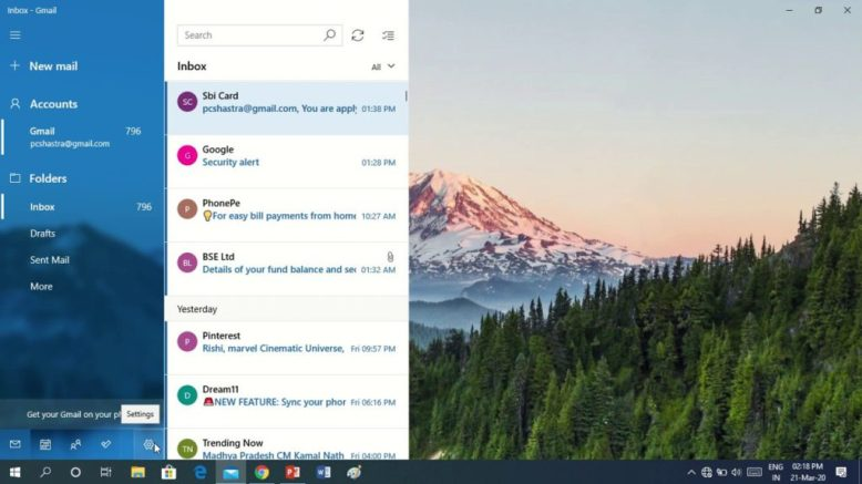 How to Log Out of Mail App in Windows 8, 10 1