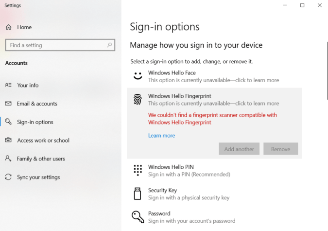 Fixed: Fingerprint doesn't work on Windows 10 - Quick Guide 2