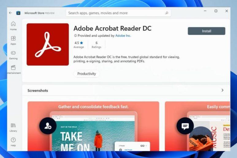 Microsoft Store gets Adobe Acrobat Reader in Windows 11 1