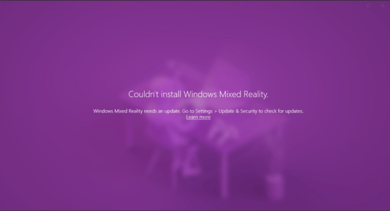 Critical Error Prevents Windows 11 users from Installing Mixed Reality 2