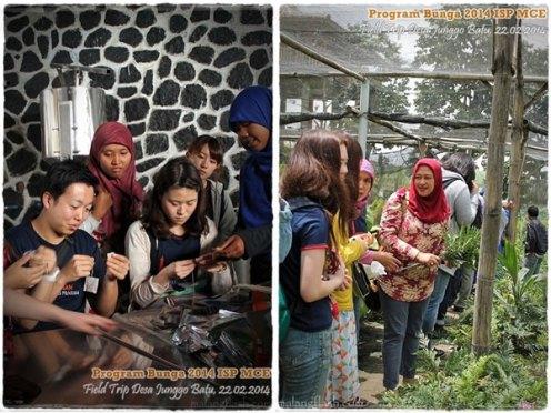 Berbagai kegiatan peserta program Bunga saat mengunjungi Gapoktan Mitra Arjuna