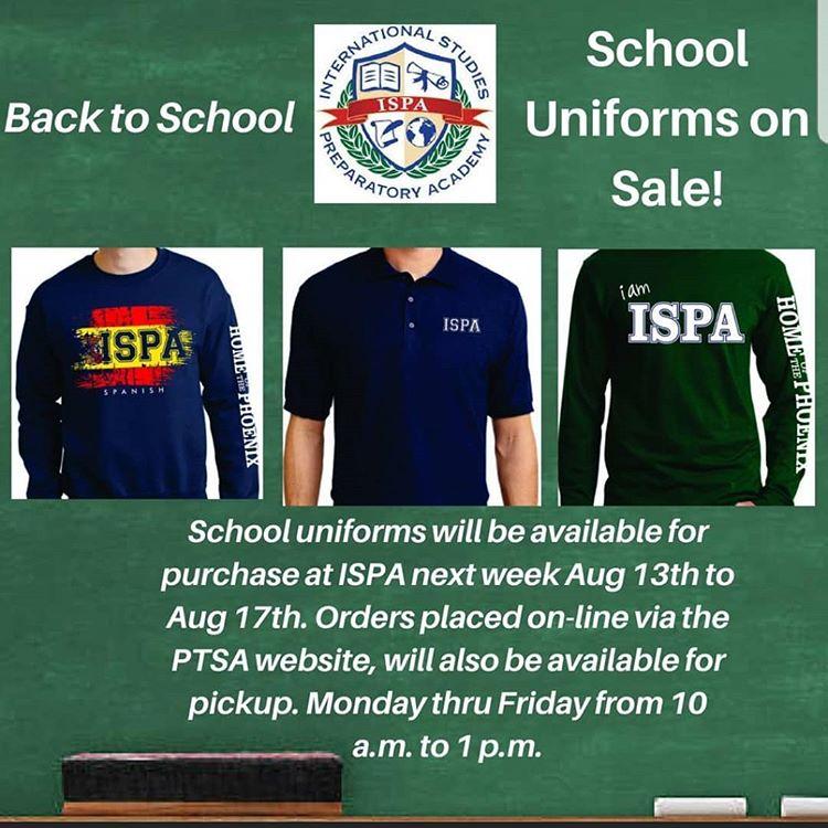 ISPA PTSA Uniform Sale Image